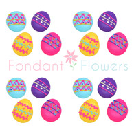 "1"" Medium Royal Icing Easter Eggs (24 per box) Decorated"