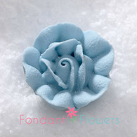 "1"" Royal Icing Rose - Medium - Pastel Blue (20 per box)"