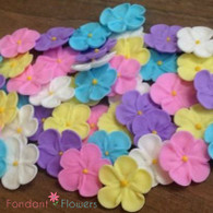 """7/8"""" Royal Icing Forget-Me-Not - Small - Assorted (24 per box)"""