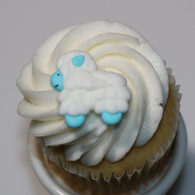 "1"" Royal Icing Sheep - Blue (24 per box)"