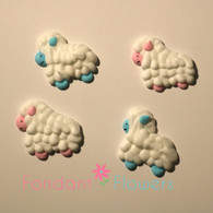 "1"" Royal Icing Sheep - Pink & Blue (24 per box)"