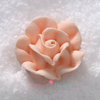 "1"" Royal Icing Rose - Medium - Peach (20 per box)"