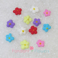 "3/8"" Royal Icing Drop Flowers - Mini - Blue (100 per box)"