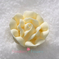 "1"" Royal Icing Rose - Medium - Ivory (20 per box)"