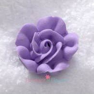 "1"" Royal Icing Rose - Medium - Lavender (20 per box)"