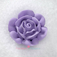 "1-3/4"" Royal Icing Rose - Large - Lavender (10 per box)"