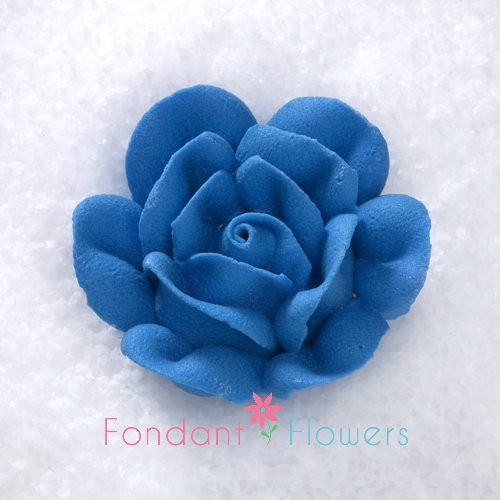 1 34 Royal Icing Rose Large Royal Blue Quanity 10