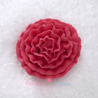 "1-1/2"" Royal Icing Carnation - Medium - Red (10 per box)"