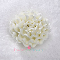 "1-1/2"" Royal Icing Carnation - Medium - White (10 per box)"