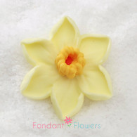 "1-1/2"" Royal Icing Daffodil - Medium - Yellow (10 per box)"
