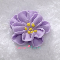 "1"" Royal Icing Dainty Bess Rose - Small - Lavender (quanity 20)"