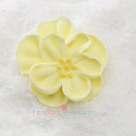 "1"" Royal Icing Dainty Bess Rose - Small - Yellow (20 per box)"