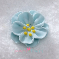 "1"" Royal Icing Dainty Bess Rose - Small - Pastel Blue (quanity 20)"