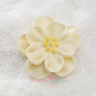 "1-1/2"" Royal Icing Dainty Bess Rose - Medium - Ivory (quanity 20)"