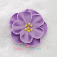 "1-1/2"" Royal Icing Dainty Bess Rose - Medium - Lavender (quanity 20)"