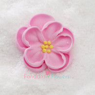 "1-1/2"" Royal Icing Dainty Bess Rose - Medium - Pink (quanity 20)"