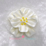 "1-1/2"" Royal Icing Dainty Bess Rose - Medium - White (quanity 20)"