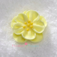 "1-1/2"" Royal Icing Dainty Bess Rose - Medium - Yellow (quanity 20)"