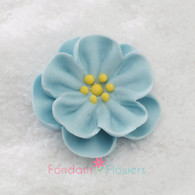 "1-1/2"" Royal Icing Dainty Bess Rose - Medium - Pastel Blue (quanity 20)"
