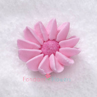 "1-1/2"" Royal Icing Daisy - Medium - Pink (quanity 20)"