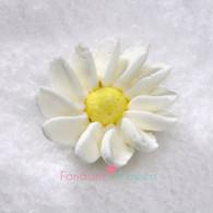 "1-1/2"" Royal Icing Daisy - Medium - White (20 per box)"