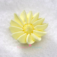"1-1/2"" Royal Icing Daisy - Medium - Yellow (quanity 20)"