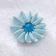 "1-1/2"" Royal Icing Daisy - Medium - Pastel Blue (quanity 20)"