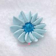 "1-1/2"" Royal Icing Daisy - Medium - Pastel Blue (20 per box)"