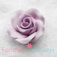 "1-1/8"" Rose w/ Calyx - Petite - Lavender (set of 12)"