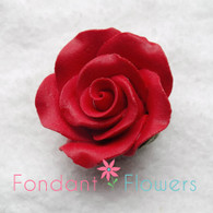 """1-1/8"""" Rose w/ Calyx - Petite - Red (Sold Individually)"""