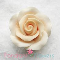 "1-1/8"" Rose w/ Calyx - Petite - Cream (Sold Individually)"