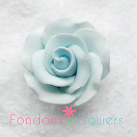 """1-1/8"""" Rose w/ Calyx - Petite - Pastel Blue (Sold Individually)"""
