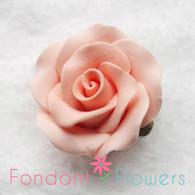 "1-1/8"" Rose w/ Calyx - Petite - Peach (set of 12)"