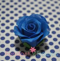 """1-1/8 """" Rose w/calyx -  Petite -  Royal Blue (Sold Individually)"""