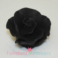 "1-1/2"" Formal Rose - Black (Set of 3)"