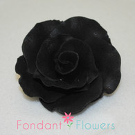 "2"" Formal Rose - Black (Sold Individually)"