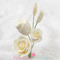"2-1/2"" Rose Filler - Mini - Ivory (Sold Individually)"