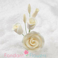 "3"" Rose Filler - Small - Ivory (Sold Individually)"
