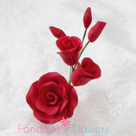 "3"" Rose Filler - Small - Red (Sold Individually)"