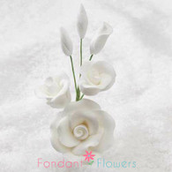 "3"" Rose Filler - Small - White (Sold Individually)"