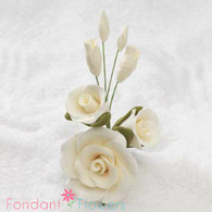 "3-1/2"" Rose Filler - Medium - Ivory (Sold Individually)"
