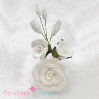 "3-1/2"" Rose Filler - Medium - White (Sold Individually)"