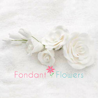 "5"" Rose Filler - Large - White (Sold Individually)"