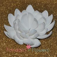 """5"""" Lotus - X-Large - White (Sold Individually)"""