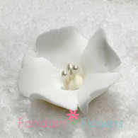 "1.25"" Fruit Blossom - White (10 per box)"