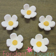 "1"" Blossoms - Medium - White (10 per box)"