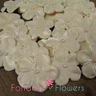 """1.5"""" Charming Blossom - Ivory (10 per box)"""