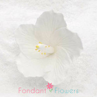 "2.5"" Hibiscus - Small - White (Sold Individually)"