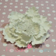 "4"" Garden Peony - Large - White (Sold Individually)"
