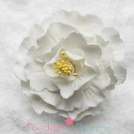 "2 1/2"" Peony - Medium - White (Sold Individually)"